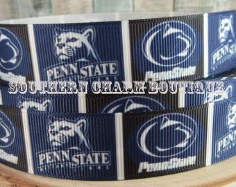 "3 yards 7/8"" Penn State grosgrain ribbon"