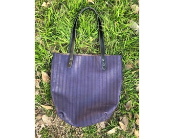 Limited Edition LARGE TOTE Purple Mesh • Leather Everyday Bag