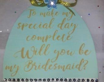 Wedding Will-You-Be-My-Bridesmaid-dress Invitation-