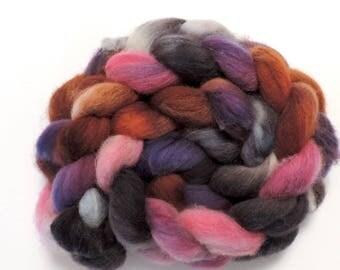 Kammzug,Shetland, Rainbow No 306, 120g top, handgefärbte Fasern zum Spinnen und Filzen
