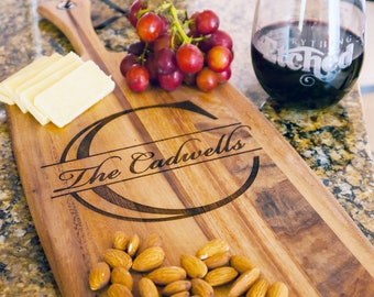 Personalized Cutting Board, Personalized Cheese Board, Personalized Gift, Wedding Board, Engraved Cheese Board, Gift For Her, Couple Gift