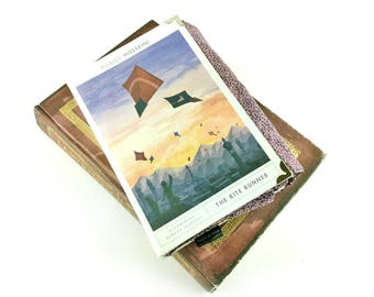 """The Kite Runner, Khaled Hosseini, Clutch bag made out of a book, Literary gift, Book purse, Book clutch, """"For you, a thousand times over"""""""