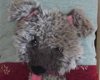 Beautiful handmade Patchwork Applique 'Cuddles' Puppy Dog cushion