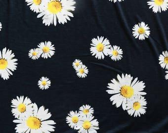 Fabric - Lady McElroy- Daisy - polyester/elastane jersey - drapey dressmaking knit fabric.