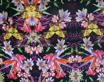 Fabric - Lady McElroy- Keswick - polyester/elastane jersey - drapey dressmaking knit fabric.