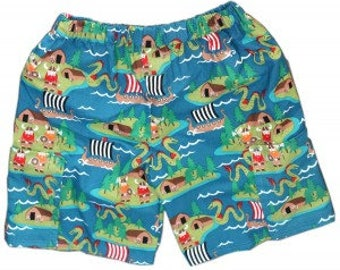 Shorts, shorts with pockets, viking shorts, cotton shorts, blue shorts, boys shorts, girls shorts