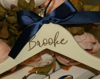 engraved hanger, bridesmaid hanger, wedding dress hanger, personalized hanger, bridesmaid gift, wood hanger
