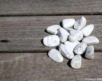 Tumbled White Howlite | Healing Stone | Healing Crystal | Spiritual Stone | Tumbled Stone | Gemstone |
