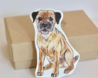 Border Terrier Brooch