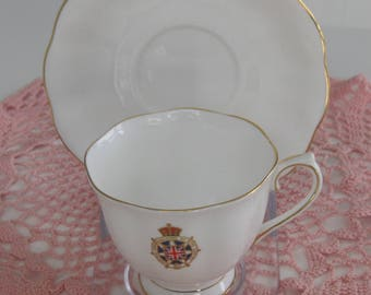 ROYAL ALBERT IMPERIAL Order Daughters Of The Empire Bone China Cup and Saucer. Made in England