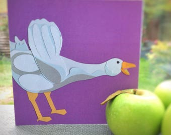 Goose | goose greetings card |  blank greetings card | farmyard card
