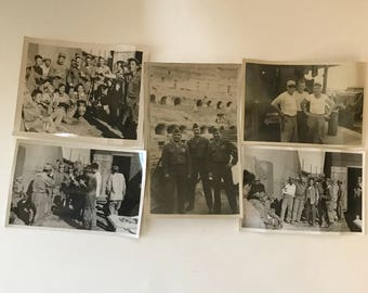 WWII original photos army memorabilia U.S Military with Korean civilians and Military set of 6 1940's - 1950's