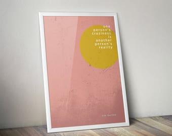 Tim Burton minimalist A3 print