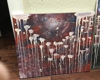 Space jellyfish original painting ooak