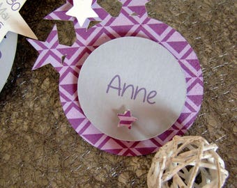 Star themed place card