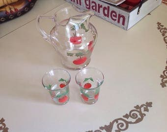 Vintage Tomato Juice Set With glasses
