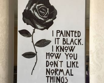 AHS QUOTE POSTER // i painted it black for you