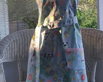Apron, Bunny Dogs Easter