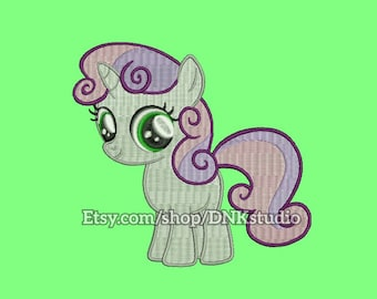 Sweetie Belle My Little Pony Embroidery Design - 6 Sizes - INSTANT DOWNLOAD