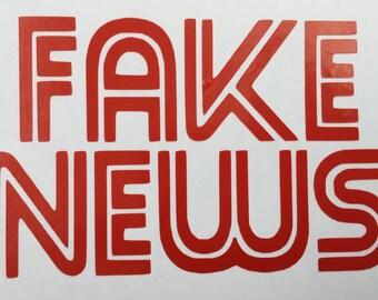 Fake News Vinyl Decal