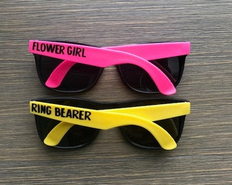 Ring Bearer Sunglasses, Flower Girl Sunglasses, Wedding Party Sunglasses, Bridesmaid Sunglasses, Ring Bearer Gift, Flower Girl Gift
