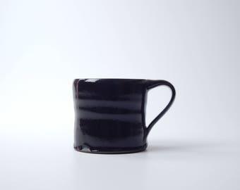 mug. handmade stoneware coffee mug in charcoal black. 13