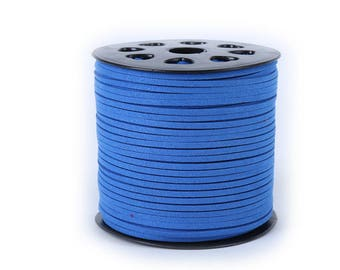 Wholesale-100Yds Royal Blue faux suede cord, 3mm, Royal Blue  faux suede cord for bracelets 3m