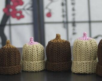 Crochet Boobie Beanie for Breastfed Baby in Preemie through Toddler
