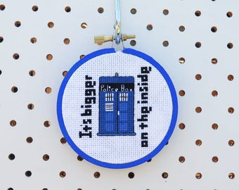 Mini Tardis Cross Stitch Pattern