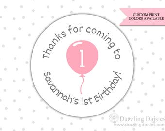 Birthday stickers - Birthday thank you stickers - First Birthday stickers - Stickers for birthday - Thank you for coming stickers (RW035)