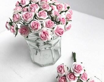 MidYear Sale15% 10mm.Mini Mulberry Paper Rose,Miniature Paper Flower,Mini Rose Flower,Dollhouse Paper Flower,Miniature Rose,Dollhouse Rose,D
