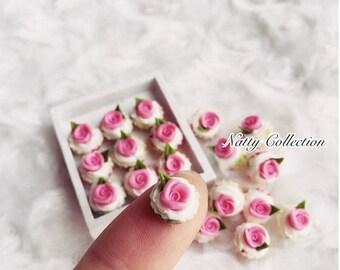 On Sale15% Miniature Pink Rose Cupcake,Miniature cake,Miniature cupcakes,miniature sweet,miniature bakery,Dolls house,Dollhouse food,miniatu