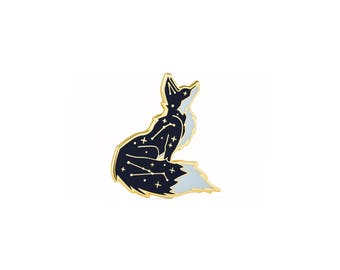 Cosmic Fox Enamel Pin