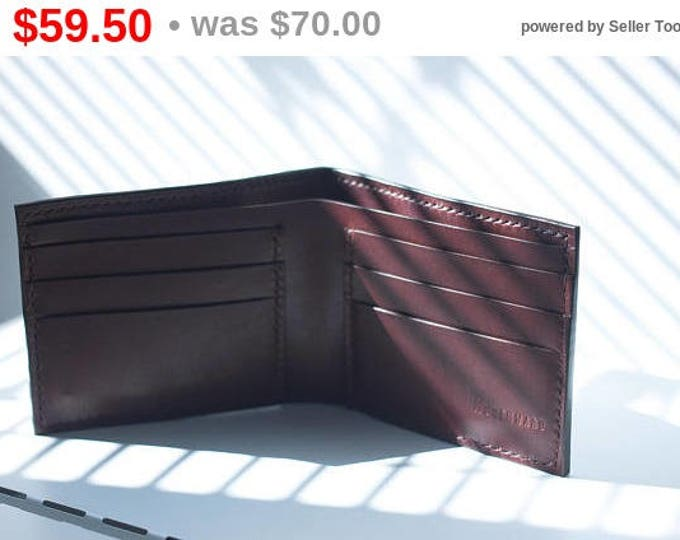 Horween Leather Bifold Wallet/Leather Bifold Wallet/Men's Leather Wallet /Leather wallet/Slim wallet