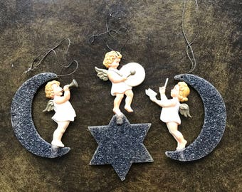 Vintage angel Christmas tree ornaments