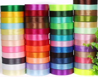 10 rolls x 25yards (20mm) Satin Ribbons Cords - Pick the colors