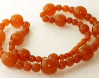 Vintage Baltic Amber Beads Necklace 74.80 gr. 琥珀項鍊