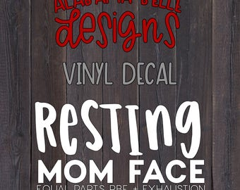 Resting Mom Face Decal