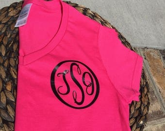 Mongram, Personalized T-Shirts, Monogrammed T-Shirts, Vinyl Decals