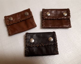 wallet,small wallet,leather wallet,genuine leather,unikat,hand made wallet,small leather wallet,Portemonnaie,little wallet,brown leather,