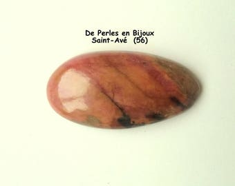 RHODONITE oval cabochon 36 x 19 x 7 natural stone