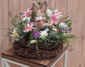 Easter Bunny Centerpiece-Easter Table Arrangement-Easter Decor-Easter decor for table-Spring Centerpiece-Easter Centerpiece