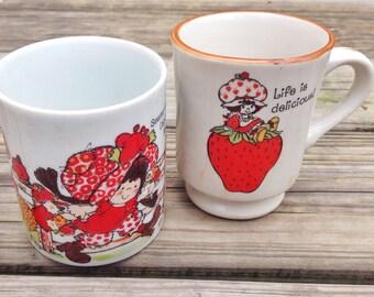 Pair of Strawberry Shortcake Mugs