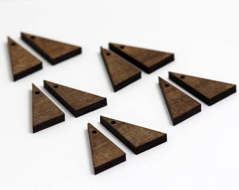 6 Right Triangle Blank Beads : Walnut Plywood