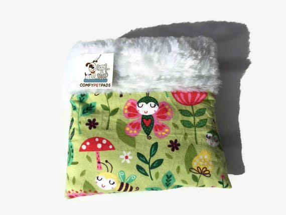 Hedgehog Snuggle Sack, LadyBug Fabric, Carrier Pouch, Sugar Glider Pouch, Cozy Den, Hamster Bedding, Pet Cave, Cuddle Bag, Animal Bedding