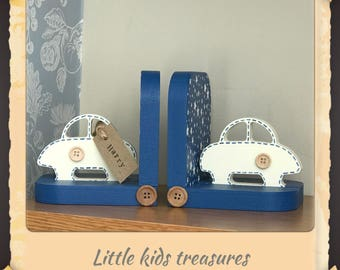 CARS wooden chunky bookends handmade - Little kids treasures