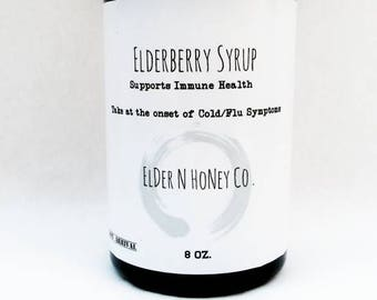 Elderberry Syrup - ORGANIC Cold, Cough & Flu Syrup. Elderberry Syrup, Natural Cough Cold Elderberry Syrup- 8 and 16 oz Elderberry Syrup Kit