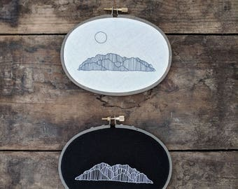 Mountain scenes 1 + 2 | hand embroidered art