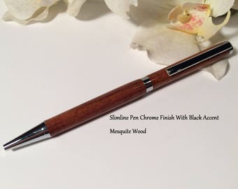 Hand Turned Wood Pen, Mesquite Wood Pen-Free Shipping