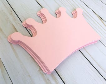 Crown, Large, cut out shape, Invitation, Table Number, Card Stock, Die Cut Crowns, Princess, Birthday, Decoration, Centerpiece - Packs paper